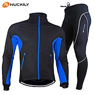 Χαμηλού Κόστους Nuckily®-Nuckily Ανδρικά Μακρυμάνικο Φανέλα με κολάν για ποδηλασία - Κόκκινο Πράσινο Μπλε Ποδήλατο Σετ Ρούχων, Αδιάβροχη, Διατηρείτε Ζεστό,