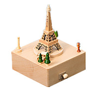 cheap -Music Box Wood Model Model Building Kits Toys Cute Square Carousel Merry Go Round Wood Pieces Unisex Gift