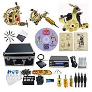 baratos kits profissionais do tatuagem-BaseKey Máquina de tatuagem Kit de tatuagem profissional - 3 pcs máquinas de tatuagem Fonte de Alimentação LED Capa Inclusa 3 x máquina de tatuagem liga para o forro e sombreamento