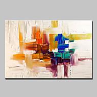 Handgeschilderde Abstract Horizontaal,Modern Europese Stijl Eén paneel Canvas Hang-geschilderd olieverfschilderij For Huisdecoratie