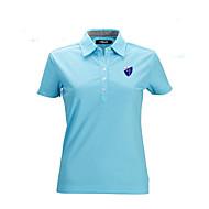 Damen Kurzarm Golf Oberteile Atmungsaktiv Leichtes Material Schweißableitend Komfortabel Golfspiel Freizeit Sport
