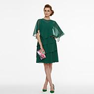 A-Linie V-Ausschnitt Kurz / Mini Chiffon Zweiteilig Cocktailparty Kleid mit Plissee durch TS Couture®