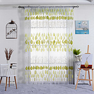 Et panel Window Treatment Rustikk , Blad Soverom Polyester Materiale Gardiner Skygge Hjem Dekor For Vindu