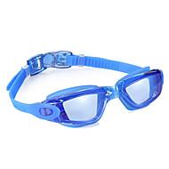 משקפי שחייה נגד ערפל עמיד למים גודל מתכוונן סיליקה ג'ל PC שחור כחול אפור בהיר כחול בהיר