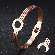 Personlig gave-Armbånd-Rustfritt Stål Plysj-stoffGylden Sølv
