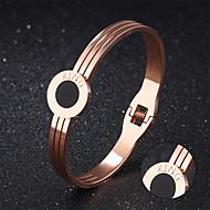 Titanium jewelry wholesale rose gold plating furnace simple round cake bracelets Bracelet personalized lettering
