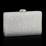 baratos Clutches & Bolsas de Noite-Mulheres Bolsas PU Bolsa de Festa Cristal / Strass Sólido Prata