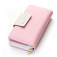 Women Bags PU Wallet for Event/Party Shopping Casual Office & Career All Seasons LightBlue Fuchsia Navy Blue Red Pink