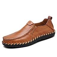 baratos Sapatos de Tamanho Pequeno-Homens Sapatos Pele Napa Primavera Verão Outono Inverno Conforto Mocassins e Slip-Ons para Atlético Casual Escritório e Carreira Ao ar