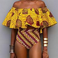 Žene Boho Spuštena ramena Povez za glavu Bikini - Geometrijski oblici, Visoki struk Print