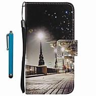 halpa -Etui Käyttötarkoitus Samsung Galaxy A5(2016) A3(2016) Lomapkko Korttikotelo Tuella Kokonaan peittävä city View Kova PU-nahka varten