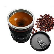 baratos -1pcs lente de câmera de emulação de aço inoxidável cozinha interna de jantar barra de escritório em casa leite chá café próprio agitando