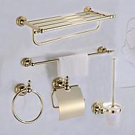 Set di accessori per il bagno Antico Ottone 5 pezzi - Bagno dell'hotel Portarotoli / torre bar / anello della torre