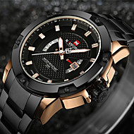 cheap Clearance-NAVIFORCE Men's Sport Watch Military Watch Wrist Watch Japanese Quartz Stainless Steel Black / Silver 30 m Water Resistant / Waterproof Calendar / date / day Creative Analog-Digital Charm Luxury
