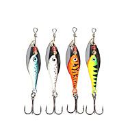 billiga Fiske-4 st Spinner bete Fiskbete Spinnfluga Metall Sjöfiske Spinnfiske Jiggfiske Färskvatten Fiske Generellt fiske Drag-fiske Abborr-fiske
