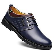 baratos Sapatos Masculinos-Homens Sapatos formais Pele Verão / Outono Conforto Oxfords Caminhada Preto / Marron / Azul Marinho / Casamento