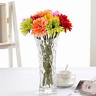 hesapli -10 şube İpek Papatyalar Masaüstü Çiçeği Yapay Çiçekler