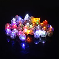 cheap Holiday Decorations-50 Pcs/Set Round Led Rgb Flash Ball Lamps Balloon Lights  for  Lantern Wedding Party Decoration