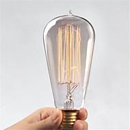 billige Glødelampe-Ac110 / 220v st64 retro edison pull tips vann kreativ personlighet wolfram filament pære 1pcs