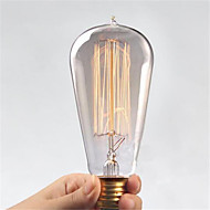 Ac110 / 220v st64 retro edison pull tips vann kreativ personlighet wolfram filament pære 1pcs