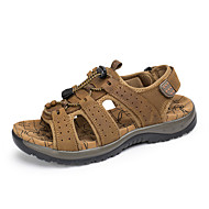 男性用 靴 レザー 春 / 夏 コンフォートシューズ サンダル 全天候型トレッキングシューズ ライトブラウン