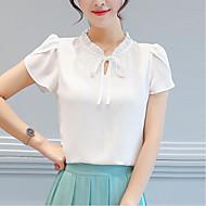 Pentru femei Stil Nautic Bluză Ieșire Vintage - Mată Mâneci Petală, Crăpătură / Primăvară / Vară / Dantelat