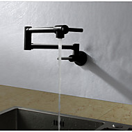 cheap Discount Faucets-Kitchen faucet - Contemporary Art Deco / Retro Modern Painting Pot Filler Tall / ­High Arc Standard Spout Wall Mounted