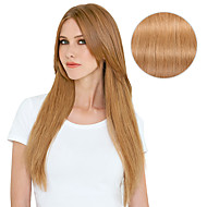 "9Pcs/Set Deluxe 120g #27 Strawberry Blonde Dirty Blonde Clip In Hair Extensions 16"" 20"" 100% Human Hair"