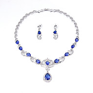 Pentru femei Seturi de bijuterii Seturi de bijuterii de mireasă Ștras Zirconiu Cubic Euramerican Zirconiu Cubic Ștras Argilă Aliaj Crown