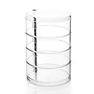 voordelige -Acrylhelder grote 4-laag roterende cilinder make-up cosmetica opslag organizer sieraden display box