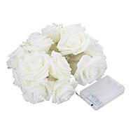 5 m 20 led baterija sile ružičasta ruža svijetla svadbena soba vrtni dekor (topla bijela)