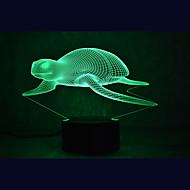 tartarugas marinhas touch escurecimento luz led 3d luz 7colorful decoração atmosfera lâmpada novidade iluminação luz