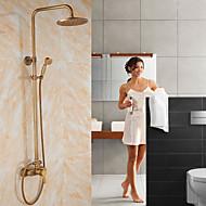 cheap Shower Faucets-Shower Faucet - Antique Antique Copper Centerset Ceramic Valve