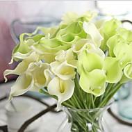 10 haara Real touch Kalla Pöytäkukka Keinotekoinen Flowers