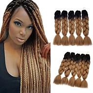"""preiswerte -Jumbo-Zöpfe Haarzöpfe Box Zöpfe 24 """" Getönte Haarteile zum Flechten 100 % Kanekalon-Haar Braun Geflochtenes Haar Haarverlängerungen"""
