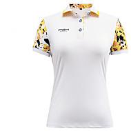 Damen Kurzarm Golf Oberteile Anatomisches Design Atmungsaktiv Schweißableitend Komfortabel Golfspiel Freizeit Sport