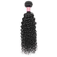 זול -שיער אנושי שיער הודי טווה שיער אדם Kinky Curly תוספות שיער מתולתלות תוספות שיער חלק 1 שחור