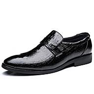 cheap Men's Oxfords-Men's Shoes Leatherette Spring / Fall Formal Shoes Oxfords Walking Shoes Black