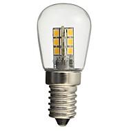 billige Globepærer med LED-HKV 1pc 1W 50-99 lm E14 LED-globepærer 24 leds SMD 2835 Dekorativ Varm hvit Hvit AC110 AC220