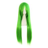 Naisten Synteettiset peruukit Suojuksettomat Pitkä Suora Punainen Pinkki Vihreä Liukuvärjätyt hiukset Luonnollinen peruukki puku Peruukit