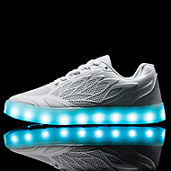 billige -Dame-PU-Lav hæl-Komfort Light Up Sko Luminous Shoe-Treningssko-Friluft Fritid Sport-