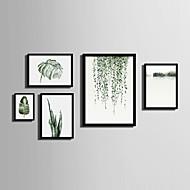 billige Innrammet kunst-Innrammet Lerret Innrammet Sett Landskap Blomstret/Botanisk Veggkunst, PVC Materiale med ramme Hjem Dekor Rammekunst Stue Soverom Kjøkken