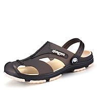 Masculino sapatos Couro Ecológico Verão Solados com Luzes Sandálias Tênis Anfíbio Para Preto Cinzento Verde Azul