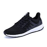 Damen Schuhe PU Winter Herbst Komfort Sportschuhe Walking Runde Zehe Schnürsenkel für Schwarz Himmelblau Blau
