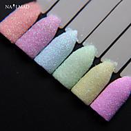 6colors NailMAD Pastel Nail Glitter Set Nail Art Glitter Powder Dust Ultra-fine Glitters Mix