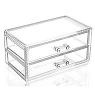 Acrylic Complex Combined Large Capacity Quadrate Double 2 Layer Makeup Cosmetics Storage Drawer Organizer
