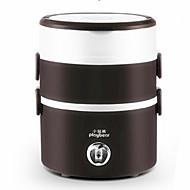 Drie lagen mini-rijst fornuis kook roestvrij stalen elektrische verwarming lunchbox