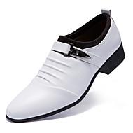baratos Sapatos Masculinos-Homens Sapatos de vestir Couro Conforto Oxfords Branco / Preto
