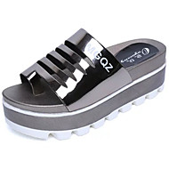 Women's Sandals Creepers Comfort PU Spring Summer Casual Dress Creepers Comfort Flat Heel White Black Sliver Champagne 2in-2 3/4in