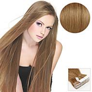 20 stk. Tape i hårforlengelser # 8 aske brun 40g 16inch 20inch 100% menneskehår for kvinner